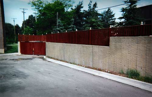 Dumpster Area Wall